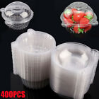 400Pack Clear Plastic Single Cupcake Cake Case Muffin Pod Dome Holder Box Tool
