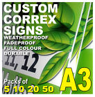 A3 LAMPOST SIGNS Cheap CORREX 4mm Weatherproof Packs of 5 10 20 50 Event Builder