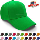 Baseball Caps for Men and Women Plain Hat Loop Adjustable Size Solid Polo Style