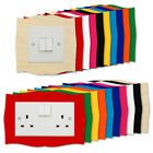 WAVY BOOK Light Switch Plug Socket Surround Colour Acrylic Plywood Finger Panels