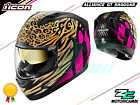 CASCO MOTO INTEGRALE OPACO LEOPARD ICON ALLIANCE GT SHAGUAR MATT XS S M L XL XXL