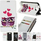 Pattern Card Holder PU Leather+TPU Flip Wallet Case Cover For Various Phone