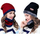 Girl Women Slouchy Beanie Winter Hat Scarf Set Hat Knit Warm Snow Ski Skull Cap