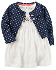 Carters Newborn 3 Months Cardigan & Bodysuit Dress Set Baby Girl Clothes