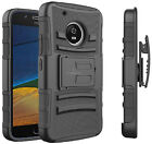 For Motorola Moto E4 Plus Heavy Duty Armor Tough Case Cover w/ Belt Clip Holster