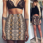 Vogue Women Ladies High Waisted Pencil Skirt Bodycon Leather Mini Skirt Us Stock