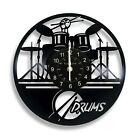 Guitar Drums Set Wall Clock Music Instrument Notes Vinyl Record Gift Home Decor