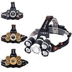 80000LM 5 XML T6 LED Rechargeable USB Headlight Zoom Fishing Flashlight Torch S2