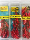 Bass Assassin Saltwater Fishing Boat Jighead Lure 18 Count Package  Red