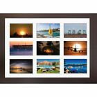 "Large multi picture photo aperture frame fits 9 photos of size 6"" x 4"" Inches"