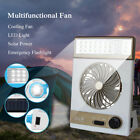 Rechargeable Solar Power/AC 2in1 Camping Cool Fan Light Tent LED Lantern Cooler