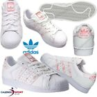 THE SHOE SUPERSTAR WOMAN, ADIDAS BY2951 WHITE PINK SNEAKER
