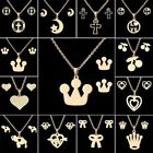 Fashion Stainless Steel Women Chain Charm Pendant Necklace Earrings Jewelry Set