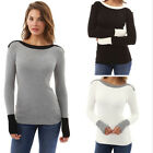 US Women Casual Tops New T-Shirt Loose Fashion Blouse Cotton Blouse Long Sleeve