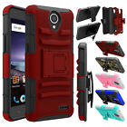 Hybrid Shockproof Holster Belt Clip Armor Case Cover For ZTE Overture 3 /Maven 3