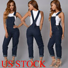 US Women Fashion Denim Jeans BIB Pants Overalls Straps Jumps