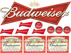 Mixed Budweiser Labels printed on edible icing  25 x 19cm | cut out & peel off