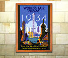 1933 Chicago Worlds Fair #5 Vintage Art Deco Poster [4 sizes matte+glossy avail]