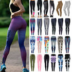 Donna Sport Yoga Workout Leggings Elastici da palestra sportive jogging corsa
