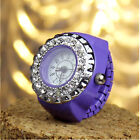 Round Dial Classic Steel Case Elastic Finger Ring Quartz Watch Lady Girl Gifts