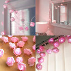 20 Led Rose Flower Fairy Light Wedding Party Xmas String Battery Bedroom Garden