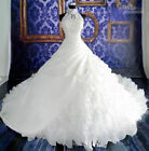 Weding Dresses Lace Ball Gown Bridal Gowns With Lace Applique Beads  Zip Back