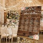 Personalised Wedding Table Seating Plan- RUSTIC WOOD LOOK FESTOON FLOR - 4 SIZES