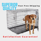 "Dog Crate 20"" 22"" 24"" 30"" 36"" 42"" 48"" Pet Folding Kennel Divider 2 Doors Metal"
