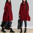Women's Lady Jumper High Neck Pullover Tops Oversized Sweater Loose Baggy Dress