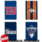 American Football Sports Team PU Leather Travel Passport ID Holder Wallet Case