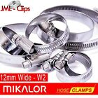 Genuine MIKALOR W2 | Stainless Steel Worm Drive Hose Clips Clamp | Wormdrive S/S