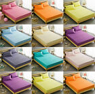 NEW Non-Iron EXTRA Deep Fitted Bed Sheets ~ Plain Dyed PERCALE PolyCotton Fabric