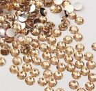 Champagne - Resin Flatback Rhinestones Assorted 14 cut High Quality 2 3 4 5 6 mm