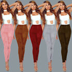Women Faux Suede Cashmere Leggings Stretch Skinny Pants Trousers Pencil Trousers