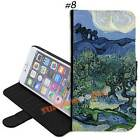 Van Gogh Oil Painting New PU Leather Wallet Flip Stand Case for Apple iPhone