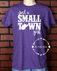 Unisex T-Shirt Vinyl Lettering - Small Town Girl West Virginia WV Large