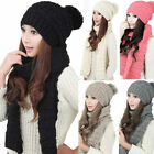 Kyпить Winter Women Girls Knitted Scarf and Hat Set Warm Knitting Thicken Skullcaps на еВаy.соm