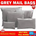 Strong Grey Mailing & Packaging Plastic Bags Extra Large 14' x 21' FREE POSTAGE