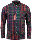 MEN'S MERC LONG SLEEVE 'NEDDY' CHECK NAVY/MUTLI SHIRT ALL SZIES SMALL TO 3XL