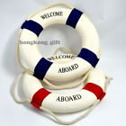 Red / Blue 14 inch Lifebuoy Life Ring Nautical Theme Home Office Welcome Decor