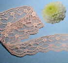 """Peach Lace Trim 10-20 Yards Scallop 2"""" Floral M92CV US Made Added Trims ShipFree"""