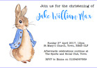 personalised party invitations CHRISTENING PETER RABBIT BEATRIX POTTER #2