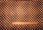 2.5 metres Remnant - Brown Polka Dot by Quilting Treasures - 100% Cotton Fabric