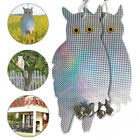 2×Fake Owl Decoy Scare Birds Squirrels Away Reflecting Eyes Repel Garden Pests