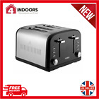 Tower T20015BL Infinity 4 Slice Toaster in Stainless Steel /Black - Brand New