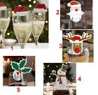 Cute Stylish Christmas Card Paper Flags Elf Toothpick For Wine Glass Wine Bottle