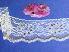 "Gold Lace Trim 7-14 Yard Scallop 3-1/8"" Floral M75BV US Made Added Trim ShipFree"
