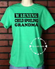Unisex T-Shirt Vinyl Lettering - Warning Child Spoiling Grandma Extra Large
