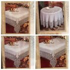 Better Home Crochet Vinyl Lace Tablecloth White, Ivory, Clear NEW
