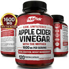 ▶ Apple Cider Vinegar Capsules - 1300mg 120 Vegan Pills Keto, Detox, Weight Loss